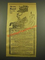 1915 Royal Typewriter Ad - The Herald of Better Service