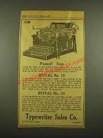 1915 Royal No. 10 Typewriter Ad - Passed? Sure