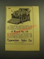 1915 Royal No. 10 Typewriter Ad - Tardiness and Poor Work
