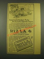 1915 Riz La Croix Cigarette Papers Ad - Experienced Smokers Prefer
