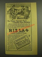 1915 Riz La Croix Cigarette Papers Ad - Tasteless, Pure, Healthful