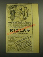 1915 Riz La Croix Cigarette Papers Ad - Men Who Roll Their Own Cigarettes