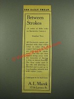 1915 A.L. Marek Racinewis Canoes Ad - Between Strokes Number Two