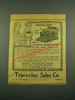 1915 Royal Master-Model 10 Typewriter Ad