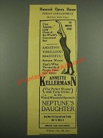 1915 Hancock Opera House Ad - Annette Kellerman in Neptune's Daughter