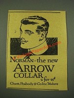 1915 Arrow Norman Collar Ad - The New Arrow Collar