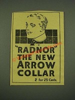1915 Arrow Radnor Collar Ad