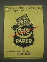 1915 Cyko Paper Ad - When You Print Your Pictures Don't Forget