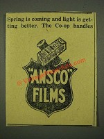 1915 Ansco Films Ad - Spring is Coming and Light is Getting Better