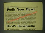 1886 Hood's Sarsaparilla Ad - Purify Your Blood