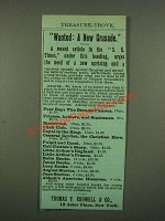 1886 Thomas Y. Crowell & Co. Books Ad - Wanted: A New Crusade