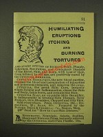 1886 Cuticura Resolvent and Cuticura Soap Ad - Humiliating Eruptions