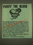 1886 Cuticura Resolvent and Cuticura Soap Ad - Purify the Blood
