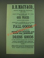 1885 R.H. Macy & Co. Fall Goods Ad