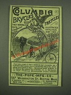1885 Columbia Bicycles and Tricycles Ad