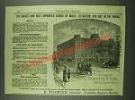 1883 New England Conservatory of Music Ad - Best Appointed School