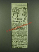 1883 Massachusetts Organ Co. Webber Singing Doll Ad - A Prima Donna