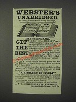 1883 Webster's Unabridged Dictionary Ad