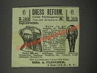1883 Mrs. A. Fletcher Union Undergarments Ad - Dress Reform