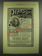 1884 Pears' Soap Ad - The Famous English Complexion Soap
