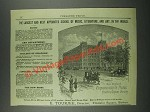 1884 New England Conservatory of Music Ad - Best Appointed