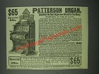 1884 James T. Patterson Organ Ad