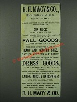 1884 R.H. Macy & Co. Fall Goods Ad