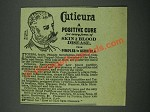 1884 Cuticura Resolvent and Soap Ad - A Positive Cure