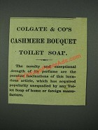 1884 Colgate & Co's Cashmere Bouquet Toilet Soap Ad