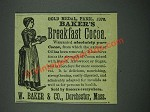 1884 Baker's Breakfast Cocoa Ad - Gold Medal, Paris