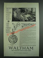 1919 Waltham Vanguard Watch Ad - To Instruct and Protect You