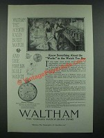 1919 Waltham Colonial A Watch Ad - Know Something About the Works