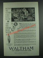 1919 Waltham Colonial A Watch Ad - The Scientifically Built Watch