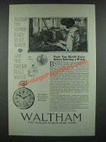 1919 Waltham Vanguard Watch Ad - Facts You Should Know