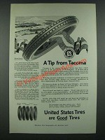 1919 United States Tires Ad - A Tip From Tacoma