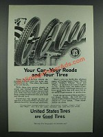 1919 United States Tires Ad - Your Car Your Roads Your Tires