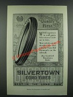 1919 Goodrich Silvertown Cord Tires Ad - Quality