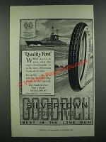 1919 Goodrich Silvertown Cord Tires Ad - Super-Dreadnought