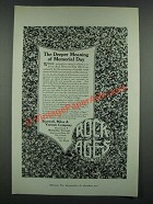 1919 Rock of Ages Memorials Ad - The Deeper Meaning