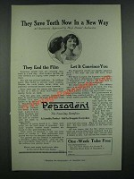1919 Pepsodent Tooth paste Ad - They Save Teeth Now in a New Way
