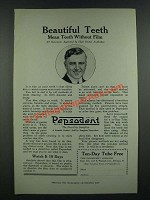 1919 Pepsodent Tooth paste Ad - Beautiful Teeth