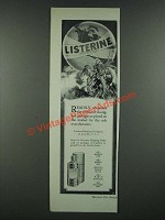 1919 Listerine Antiseptic Ad - Readily Obtainable