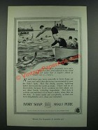 1919 Ivory Soap Ad - Outdoor Sports Frequently Leave Skin Sensitive