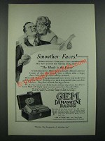 1919 Gem Damaskeene Razor Ad - Smoother Faces