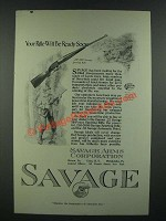 1919 Savage .250-3000 Sporting Rifle Ad - Your Rifle Will Be Ready Soon