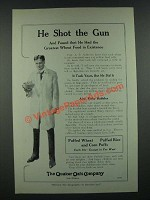 1919 Quaker Oats Puffed Wheat, Rice and Corn Puffs Ad - He Shot the Gun