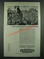 1919 Lehigh Portland Cement Company Ad - Never Can Be Forgotten