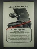 1919 Victor Victrola Phonograph Ad - Look Inside the Lid!