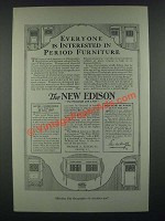 1919 The New Edison Phonographs Ad - Interested in Period Furniture