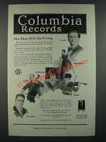 1919 Columbia Records Ad - Lazaro Barrientos Stracciari Casals Lashanska Seidel